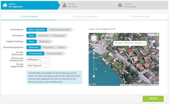 Hypoguide.ch: individuelle Eigenheimfinanzierung online