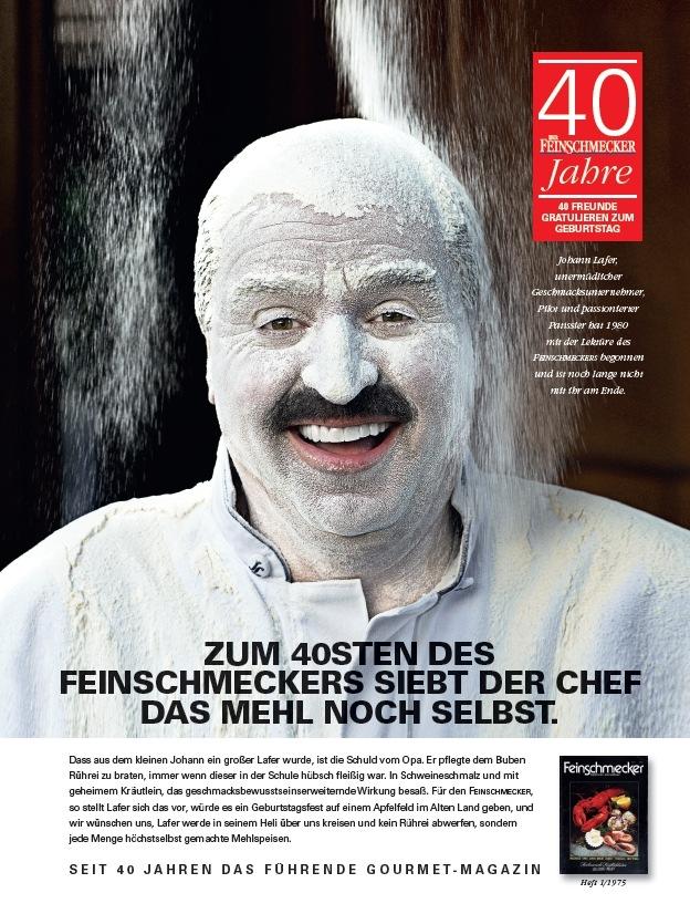 DER FEINSCHMECKER zelebriert seinen 40sten Geburtstag