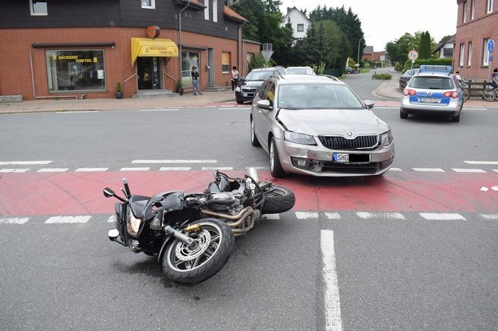 POL-NI: Stadthagen-Motorradfahrer nach Unfall schwer verletzt