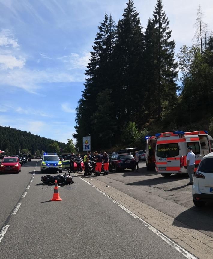 Verkehrsunfallort auf der B 498