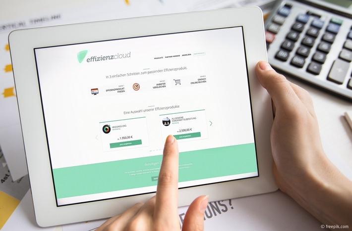 Die Online-Vermittlungsplattform effizienzcloud bringt Anbieter und Nachfrager von Effizienzprodukten zusammen.