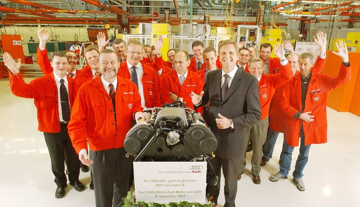 Five million engines from the Audi plant in Hungary / High-tech facility increases international competitiveness