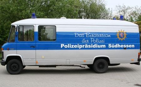 Infomobil des Polizeipräsidiums Südhessen kommt am Freitag in die Eschollbrücker Straße 44