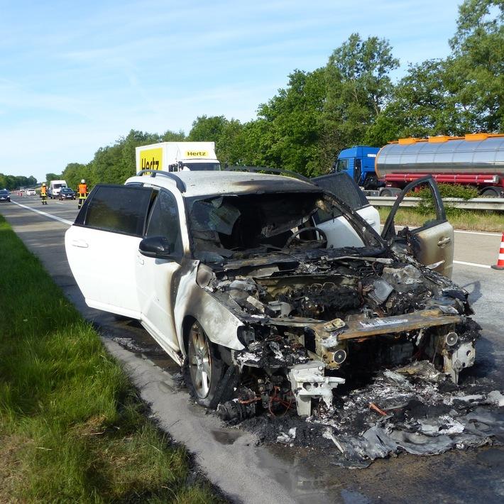POL-CUX: Zweiradfahrer bei Unfällen leicht verletzt ++ Unfälle auf der A27 ++ PKW-Brand auf der A27