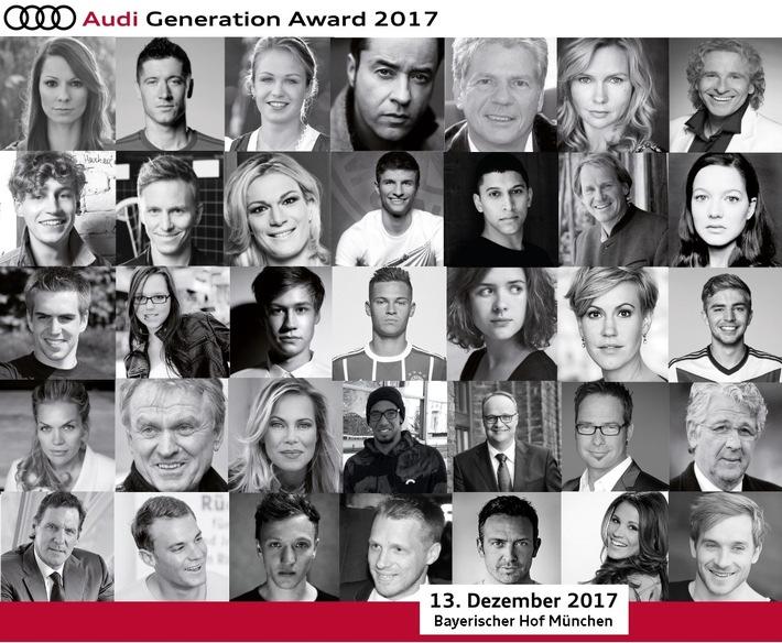 Aktualisierung: Moderator, Facebook Link & Bildmaterial Vorberichterstattung / Audi Generation Award am 13. Dezember 2017 Hotel Bayerischer Hof / Moderation - Kai Pflaume
