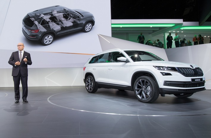 Video: Highlights der SKODA KODIAQ Messepremiere