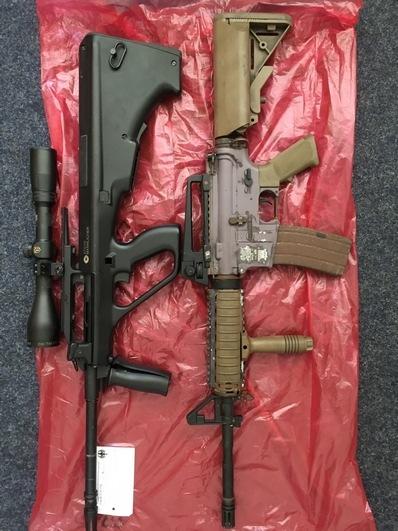 Sichergestellte Softairwaffen Foto Bundespolizei