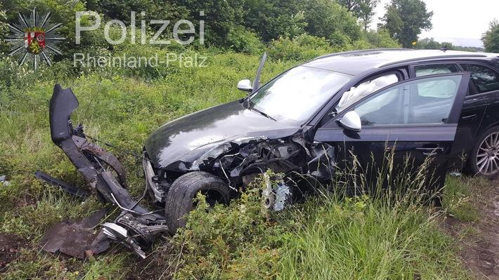 POL-PPWP: Verkehrsschild umgefahren