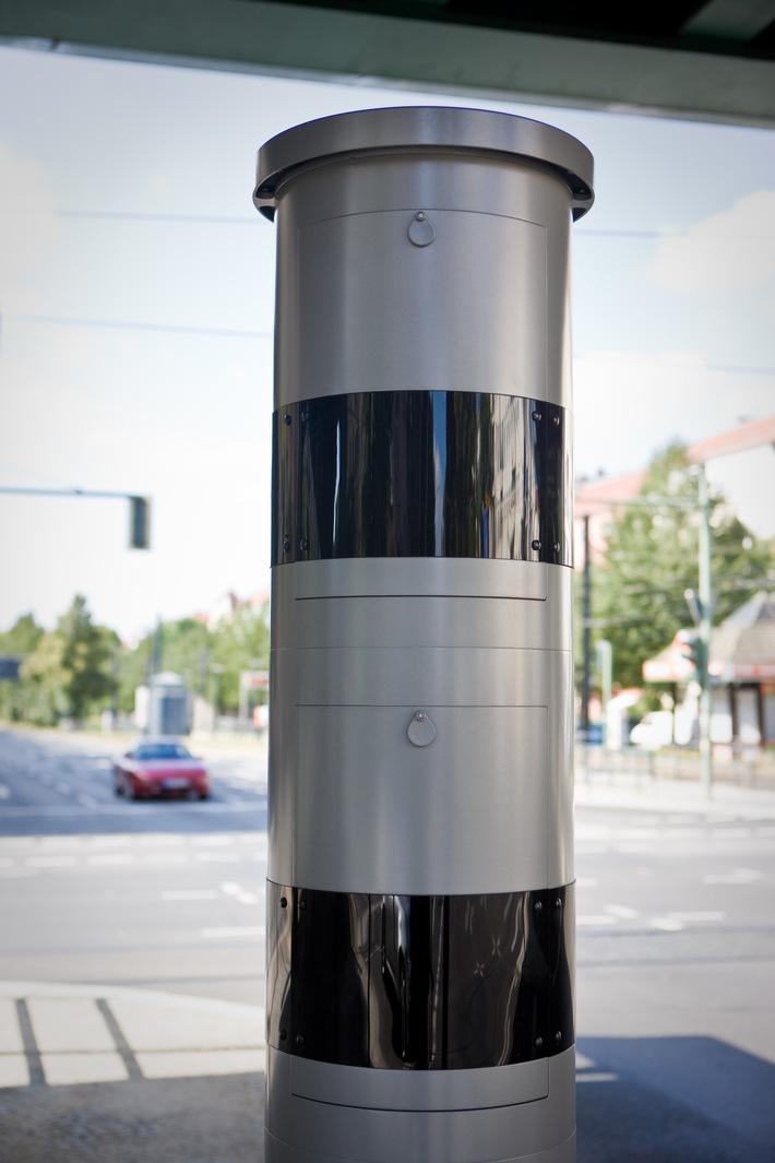 """Blitzersäule in einer Unterführung/Tunneleinfahrt / Weiterer Text über ots und www.presseportal.de/nr/113055 / Die Verwendung dieses Bildes ist für redaktionelle Zwecke honorarfrei. Veröffentlichung bitte unter Quellenangabe: """"obs/CODUKA GmbH/A. Labrentz"""""""