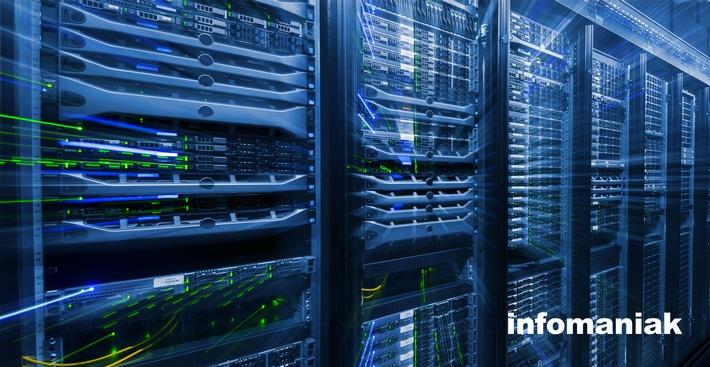 """Server Infomaniak. Weiterer Text über ots und www.presseportal.ch/de/nr/100057093 / Die Verwendung dieses Bildes ist für redaktionelle Zwecke honorarfrei. Veröffentlichung bitte unter Quellenangabe: """"obs/Infomaniak"""""""