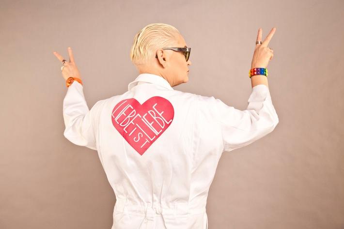 """LIEBE IST LIEBE! TELE 5 feiert den """"Internationalen Tag gegen Homophobie und Transphobie"""" mit Spielfilm-Programmierung / Am 17. Mai ab 15:30 Uhr / Hella von Sinnen ist LIEBE IST LIEBE-Botschafterin"""