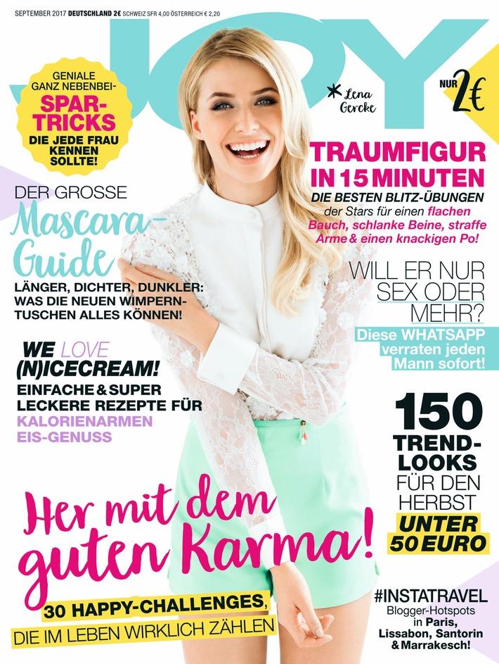 """Joy Cover 9/2017. Weiterer Text über ots und www.presseportal.de/nr/32925 / Die Verwendung dieses Bildes ist für redaktionelle Zwecke honorarfrei. Veröffentlichung bitte unter Quellenangabe: """"obs/Bauer Media Group, JOY"""""""