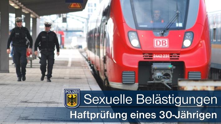 Zwei sexuelle Beleidigungen im Hauptbahnhof München sowie am S-Bahnhaltepunkt Pullach. 30-Jähriger muss vor Haftrichter.