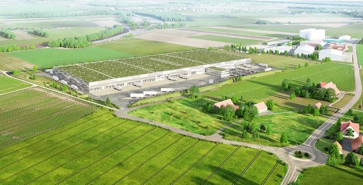Lidl investe 100 milioni di franchi nella logistica / Inizio lavori per la costruzione del secondo centro di distribuzione / Concessione edilizia valida e relazione di impatto ambientale positiva (Immagine)