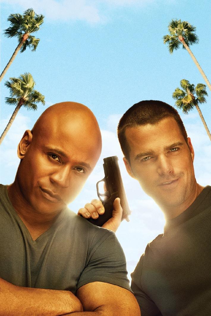 """Seit vier Jahren warten die Fans am SAT.1-Crime-Sonntag gespannt auf eine neue Folge von """"Navy CIS"""" mit Mark Harmon. Jetzt bekommt die Serie ein Spin-off und SAT.1 einen neuen Serienabend am Samstag: """"Navy CIS: Los Angeles"""" mit dem coolen Ermittler-Team um Frauenschwarm Chris O'Donnell und den bärigen LL Cool J findet zwar in einem völlig anderen Setting an der West Coast statt, ist aber keine Spur weniger spannend als das Original / SAT.1 zeigt die erste Staffel von """"Navy CIS: Los Angeles"""" ab Samstag, 24. Juli 2010, um 20.15 Uhr als Deutschland-Premiere. Foto: © CBS Studios Inc. All Rights Reserved. Dieses Bild darf bis 26. Juli 2010 honorarfrei fuer redaktionelle Zwecke und nur im Rahmen der Programmankuendigung verwendet werden. Spaetere Veroeffentlichungen sind nur nach Ruecksprache und ausdruecklicher Genehmigung der ProSiebenSat1 TV Deutschland GmbH moeglich. Verwendung nur mit vollstaendigem Copyrightvermerk. Das Foto darf nicht veraendert, bearbeitet und nur im Ganzen verwendet werden. Es darf nicht archiviert werden. Es darf nicht an Dritte weitergeleitet werden. Bei Fragen: 089/9507-1161. Voraussetzung fuer die Verwendung dieser Programmdaten ist die Zustimmung zu den Allgemeinen Geschaeftsbedingungen der Presselounges der Sender der ProSiebenSat.1 Media AG."""