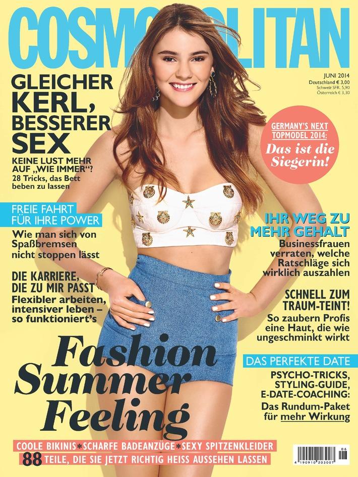 """GNTM-Gewinnerin Stefanie Cover Girl und im Exklusiv-Interview mit Cosmopolitan:  """"Ich singe immer laut, egal, wo ich gerade bin"""""""