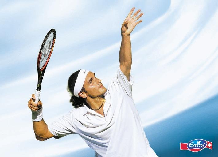 Roger Federer und Emmi auf Erfolgskurs