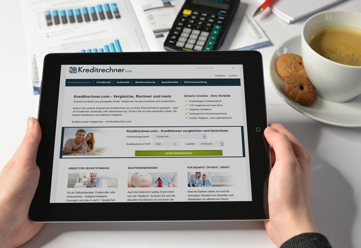 Noch schneller zum Kredit - Relaunch von Kreditrechner.com