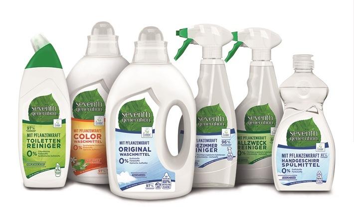 """Erste Unilever-Marke mit Verpackungen aus 100 % recyceltem Kunststoff / Ab Mai 2019 startet mit Seventh Generation die erste Unilever-Marke in Deutschland, deren Flaschen zu 100 Prozent aus recyceltem Kunststoff bestehen. Hierfür nutzt Unilever Kunststoff aus so genanntem Post-Consumer-Recycling (PCR) - also aus den Kunststoffabfällen, die bei Endverbraucherinnen und Endverbrauchern zuhause und in Büros anfallen. Unilever hat sich als Ziel gesetzt, dass bis 2025 Verpackungen weltweit und über das gesamte Produktportfolio hinweg zu mindestens 25 Prozent aus recyceltem Kunststoff (PCR) bestehen sollen. Weiterer Text über ots und www.presseportal.de/nr/24435 / Die Verwendung dieses Bildes ist für redaktionelle Zwecke honorarfrei. Veröffentlichung bitte unter Quellenangabe: """"obs/Unilever Deutschland GmbH/Unilever / Seventh Generation"""""""