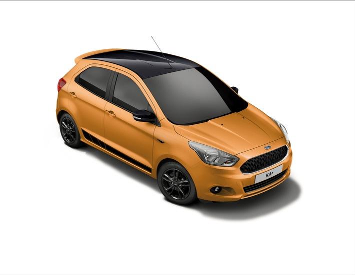 """Klein, fein und sportlich: der neue Ford KA+ """"Black Edition"""""""