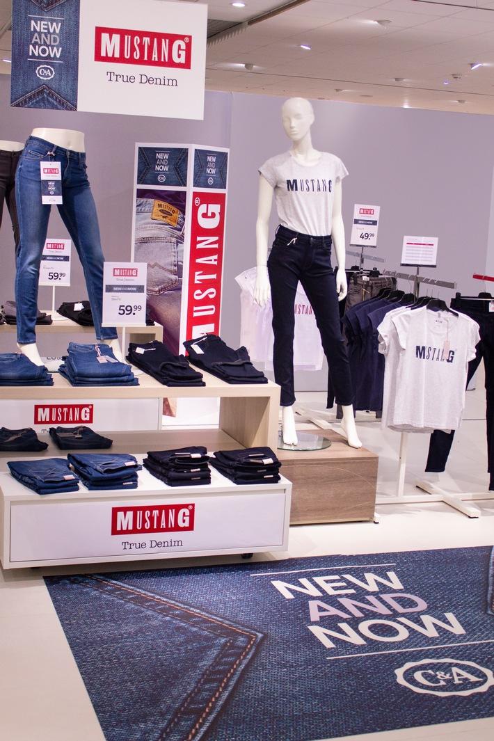 Testphase vorzeitig erfolgreich abgeschlossen: MUSTANG erweitert Markenpräsenz bei C&A von 60 auf 740 Verkaufsflächen