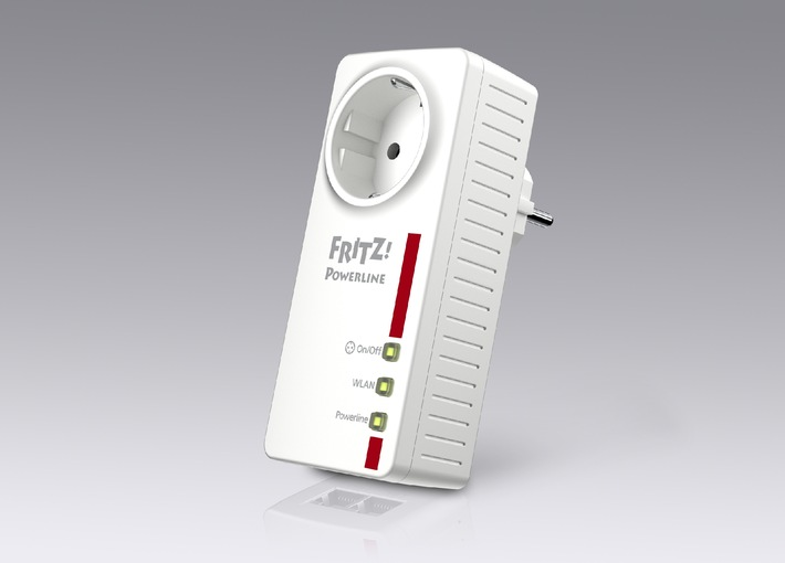 Marktstart FRITZ!Powerline 546E - kombiniert WLAN- und Powerline-Technologie mit intelligenter Steckdose (BILD)