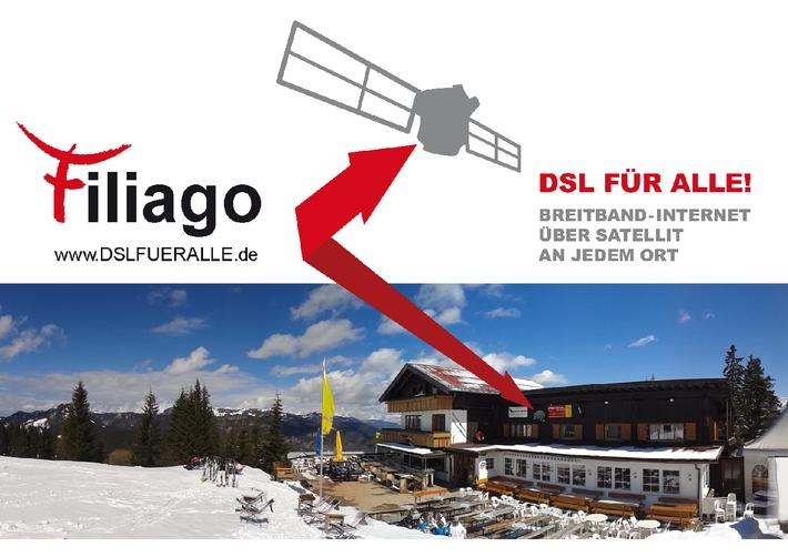 100% Breitbandgarantie jetzt auch auf dem Mont Blanc - Deutscher Internetanbieter sichert gesetzliche Breitbandversorgung in der Schweiz