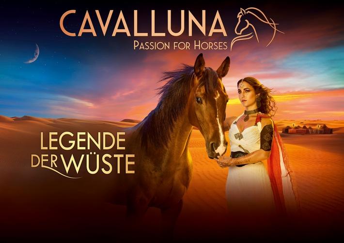 """Artwork CAVALLUNA - """"Legende der Wüste"""". Weiterer Text über ots und www.presseportal.de/nr/55914 / Die Verwendung dieses Bildes ist für redaktionelle Zwecke honorarfrei. Veröffentlichung bitte unter Quellenangabe: """"obs/CAVALLUNA"""""""