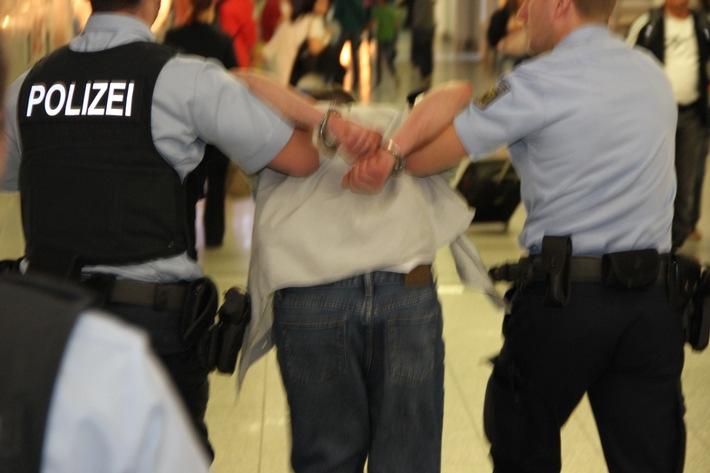 Bundespolizei fasst flüchtenden Straftäter (Symbolfoto)