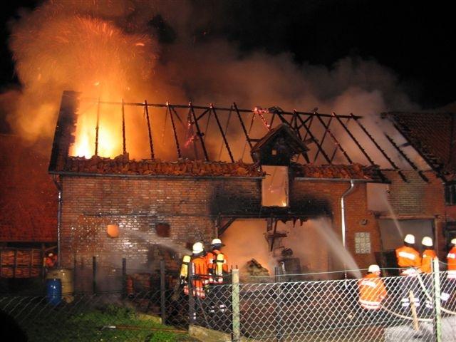 POL-HI: Scheune brennt in Silvesternacht bis auf die Grundmauern nieder
