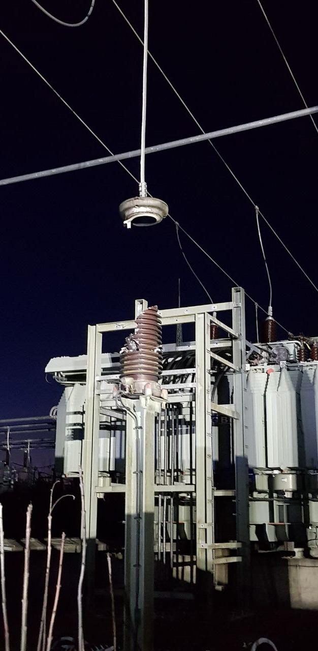 ausgebrannter Isolator