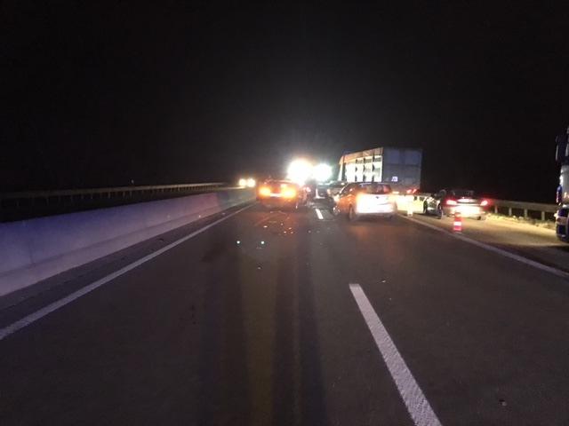 Schwerer Verkehrsunfall auf A65 in Kandel