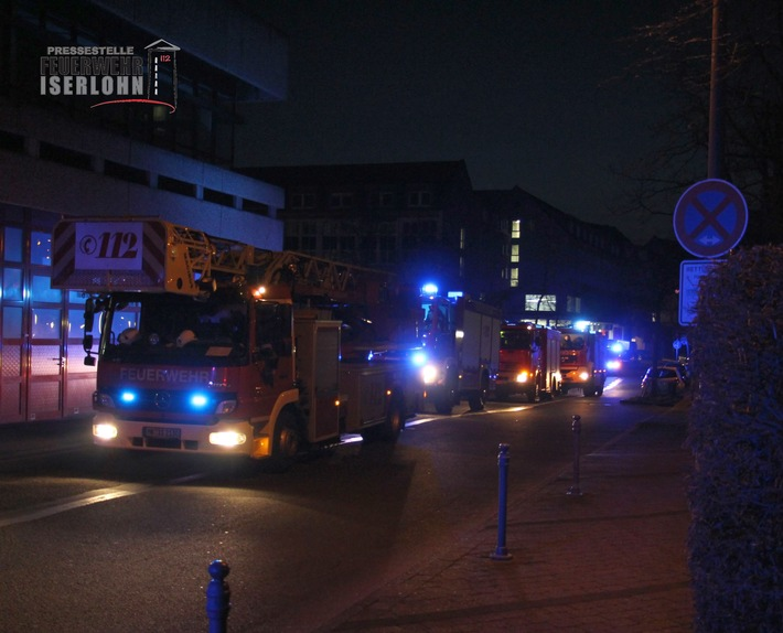 FW-MK: Brand im Rathaus Iserlohn