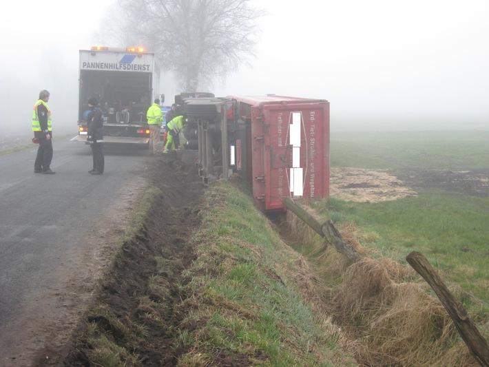 POL-SE: Alveslohe - Unfall mit LKW