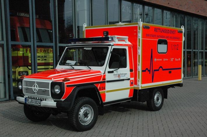Fahrzeug GW-Rett Feuerwehr Ratingen