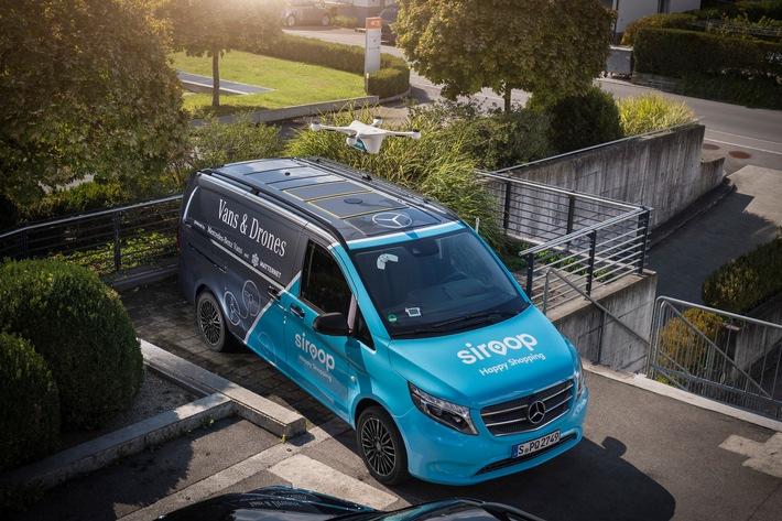 Mercedes-Benz Vans, Matternet und siroop starten Pilotprojekt zur On-Demand-Lieferung von e-Commerce-Produkten