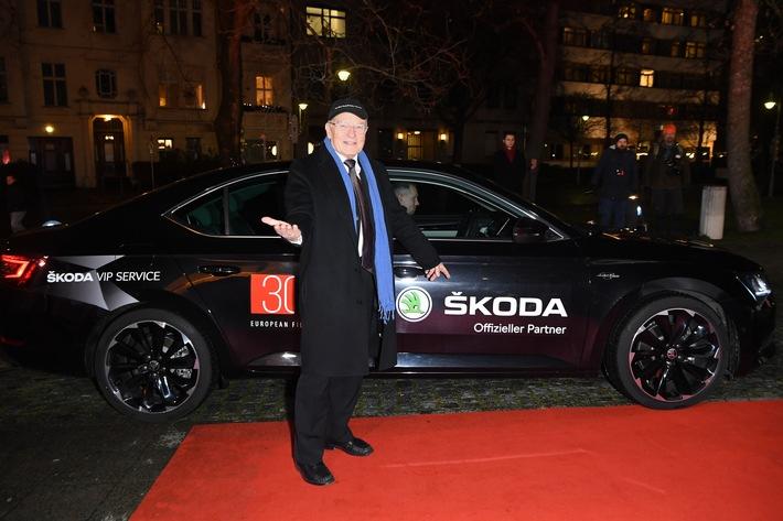 in SKODA sorgte beim Europäischen Filmpreis für eine komfortable Vorfahrt der Stars