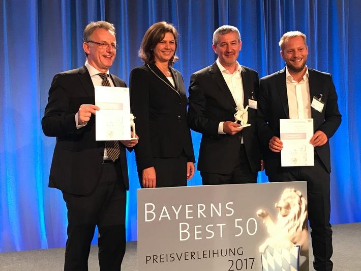 Wirtschaftsministerin Ilse Aigner verleiht die Auszeichnung ?Bayerns Best 50? an die Würzburger Unternehmen va-Q-tec und Flyeralarm