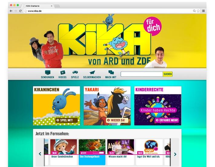 Frisches Design mit neuen Funktionen: Der Relaunch von kika.de / Neu konzipierte Homepage des Kinderkanals von ARD und ZDF geht am 12. November online