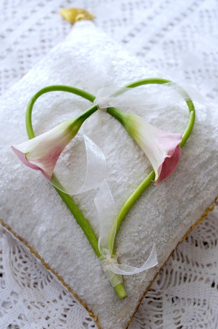 Ja Ich Will Heiraten Mit Der Hochzeitblume Calla Bild