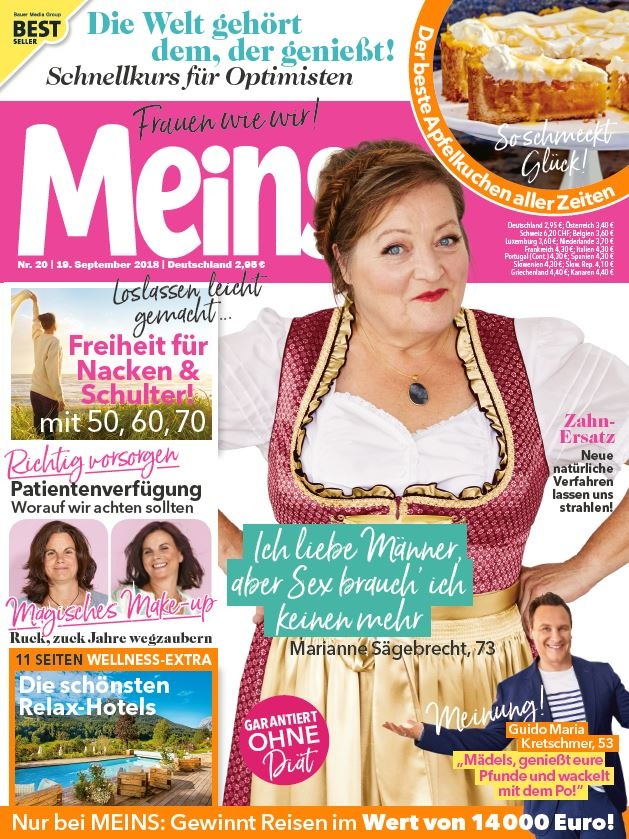 """Cover Meins. Weiterer Text über ots und www.presseportal.de/nr/106542 / Die Verwendung dieses Bildes ist für redaktionelle Zwecke honorarfrei. Veröffentlichung bitte unter Quellenangabe: """"obs/Bauer Media Group, Meins"""""""