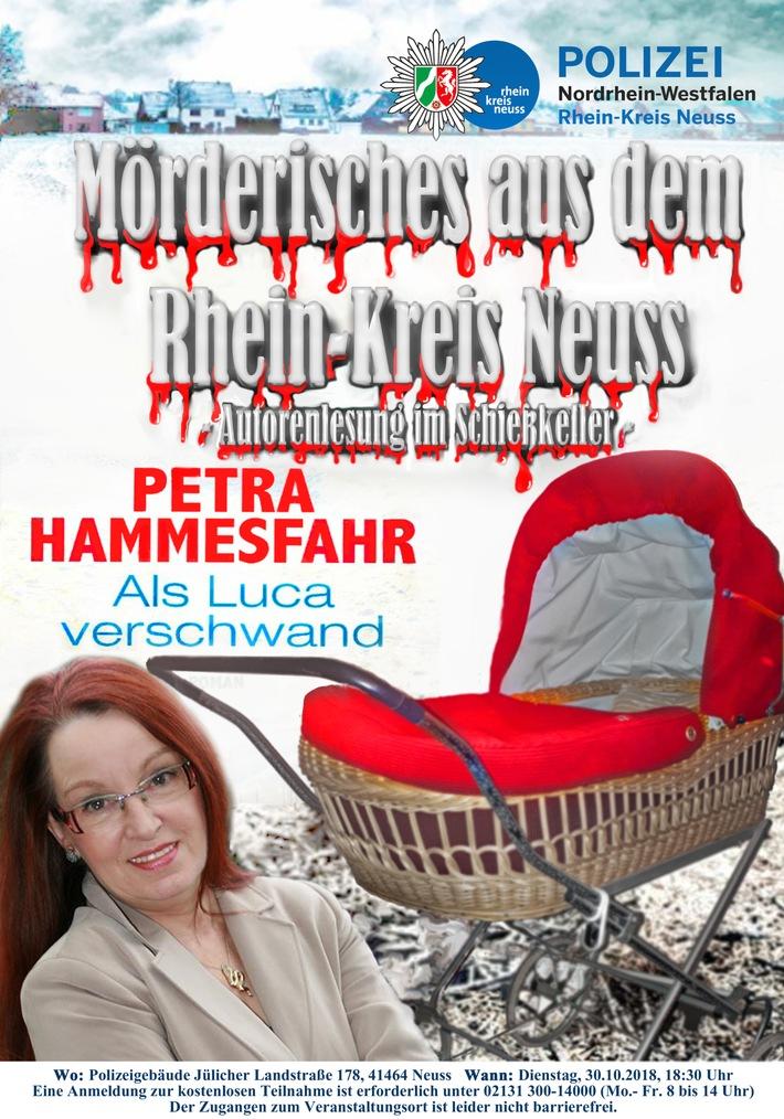 POL-NE: Mörderisches aus dem Rhein-Kreis Neuss – Petra Hammesfahr liest im Schießkeller der…