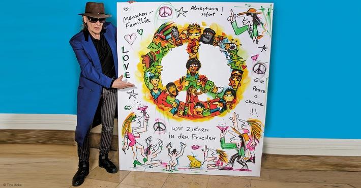 Udo Lindenbergs Gemälde für 60.201 Euro versteigert! / Auktionsportal United Charity leitet den gesamten Erlös an UNICEF weiter
