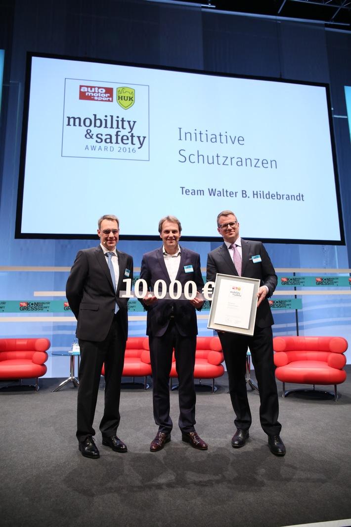 """""""Initiative Schutzranzen"""" gewinnt neuen Sicherheitspreis von auto motor und sport und HUK-COBURG"""
