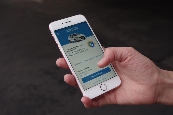 """Mit der FordPass App direkt zum Garantieschutzbrief / Weiterer Text über ots und www.presseportal.de/nr/6955 / Die Verwendung dieses Bildes ist für redaktionelle Zwecke honorarfrei. Veröffentlichung bitte unter Quellenangabe: """"obs/Ford-Werke GmbH"""""""
