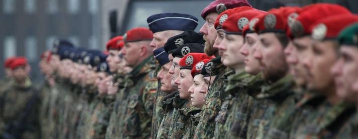 Angetretene Soldaten