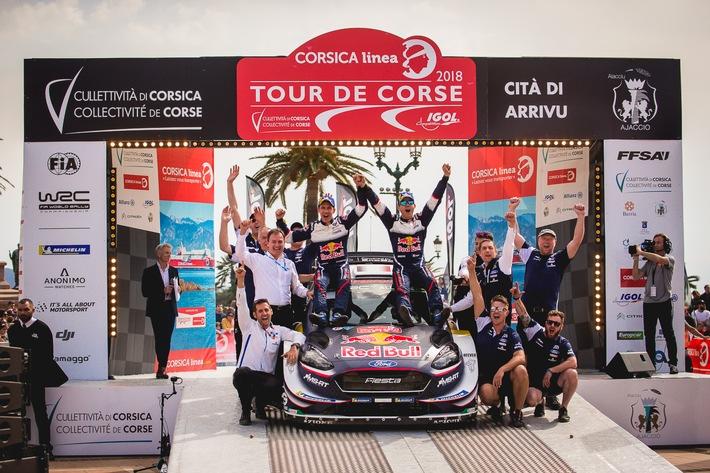 Mit ihrem gut 380 PS starken Ford Fiesta WRC haben Sébastien Ogier/Julien Ingrassia auch die WM-Rallye Frankreich gewonnen