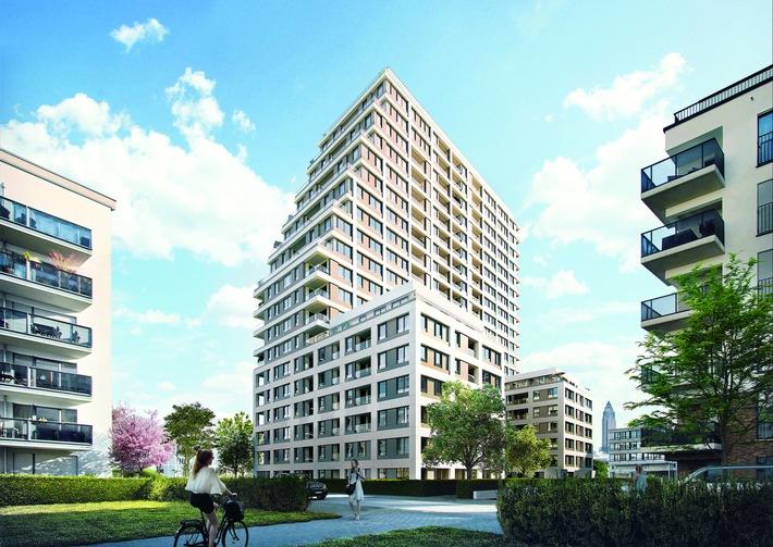 Bauwerk Capital & Red Square - Wohnturm SOLID Home entsteht im Frankfurter Europaviertel