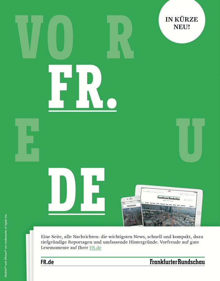 """Motiv """"VorFReuDE"""" zur Ankündigung des FR Website-Relaunchs. Weiterer Text über ots und www.presseportal.de/nr/10349 / Die Verwendung dieses Bildes ist für redaktionelle Zwecke honorarfrei. Veröffentlichung bitte unter Quellenangabe: """"obs/Frankfurter Rundschau"""""""