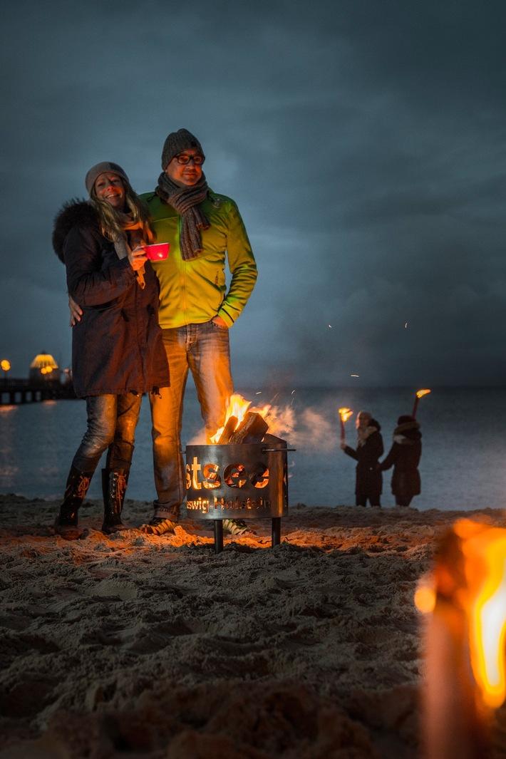 Die Ostseeküste Schleswig-Holstein erstrahlt am letzten Oktoberwochenende im leuchtenden Lichtermeer